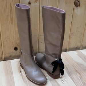 RED Valentino Leather Boots Tan 37 1/2